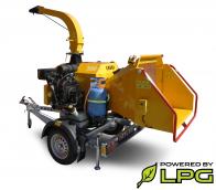 Astilladora potente de gasolina y LPG, con chasis frenado (26,5 HP) LS 160 PGB