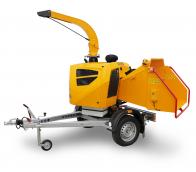 Astilladora de gasolina de alto rendimiento con chasis frenado (38 HP) LS 160 PPB