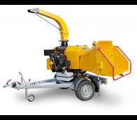 Astilladora de gasolina de alto rendimiento con chasis frenado (26,5 HP) LS 160 PB