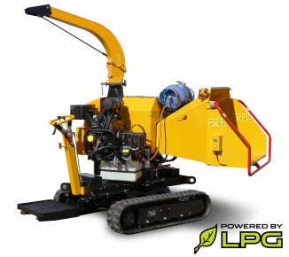 Astilladora potente de gasolina y LPG, chasis sobre bandas. LS 160 PG Track