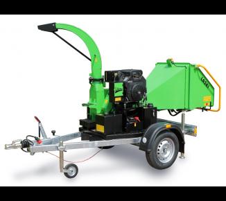 Astilladora de gasolina con chasis con freno  LS 100/27 CB