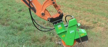 Fresadora para troncos de accionamiento hidráulico para suspender en la máquina de construcción FZ 500 H
