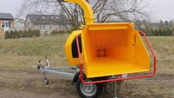 Astilladora potente de diésel con chasis frenado LS 160 DWB